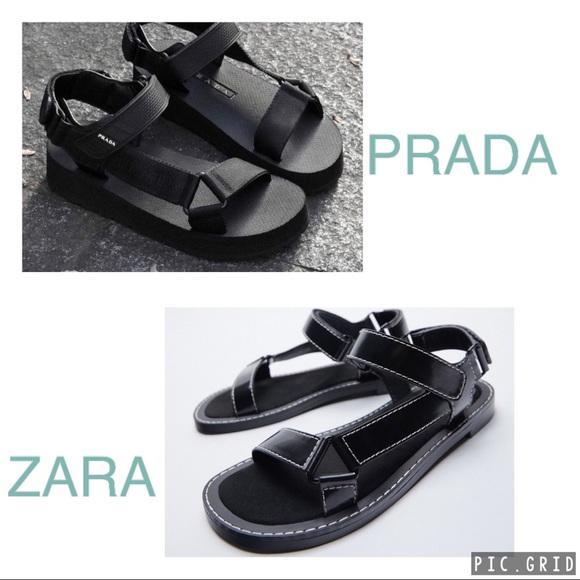 Zara strap sandals with topstitching